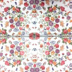 Servetėlė Gėlės (melsvas fonas)