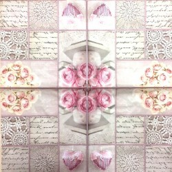 Servetėlė Rožės ir dekoracijos