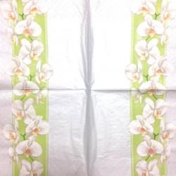Servetėlė Orchidėjos (žalia juostelė)