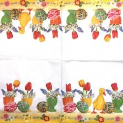 Servetėlė Ančiukas ir gėlės