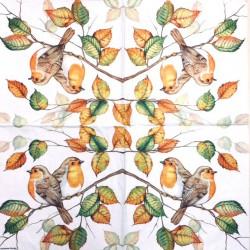 Servetėlė Rudens paukščiai