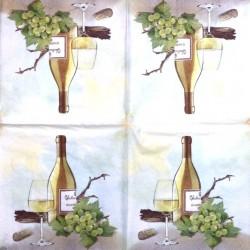 Napkin White vine
