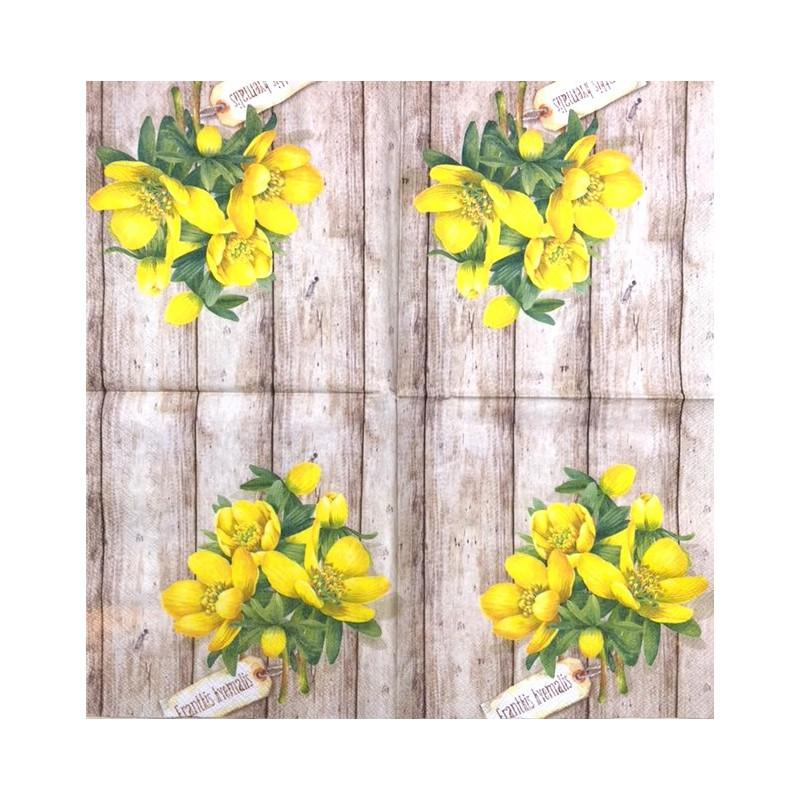 Servetėlė Geltonos gėlės