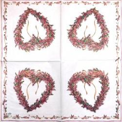Servetėlė Gėlių širdis