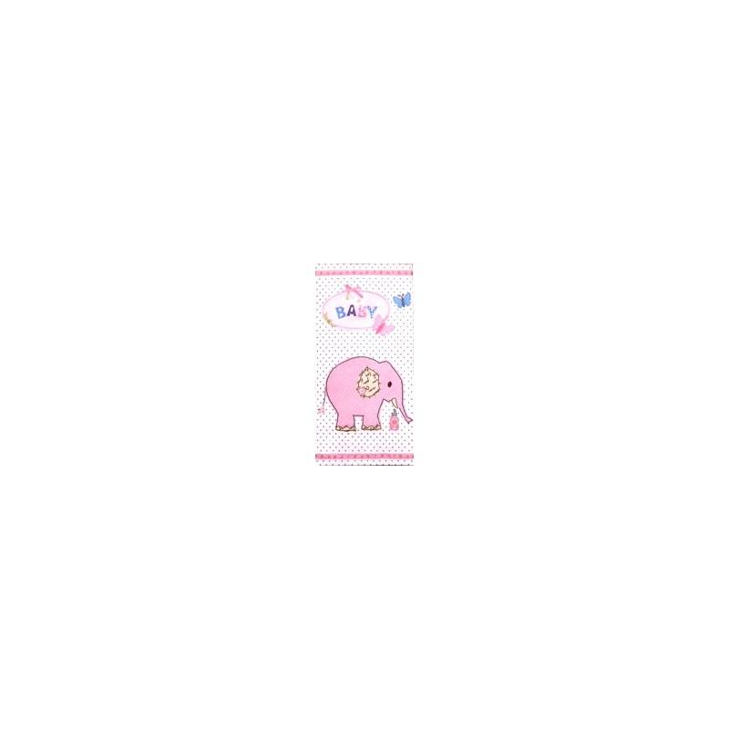 Popierinė nosinaitė Dramblys (rožinis)