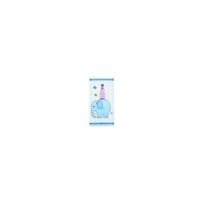 Popierinė nosinaitė Dramblys (mėlynas)