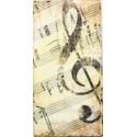 Popierinė nosinaitė Smuiko raktas