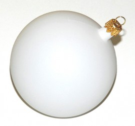 Christmas Ball white (9 cm)