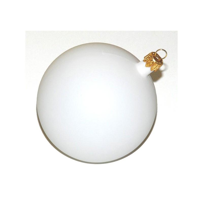 Christmas Ball white (9 cm)