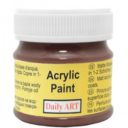 Acrylic paints Dark Brown (50 ml)