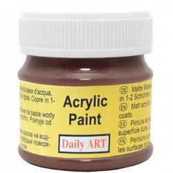 Matiniai akriliniai dažai Tamsiai rudi (50 ml)