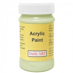 Matiniai akriliniai dažai Šviesiai žali (100 ml)