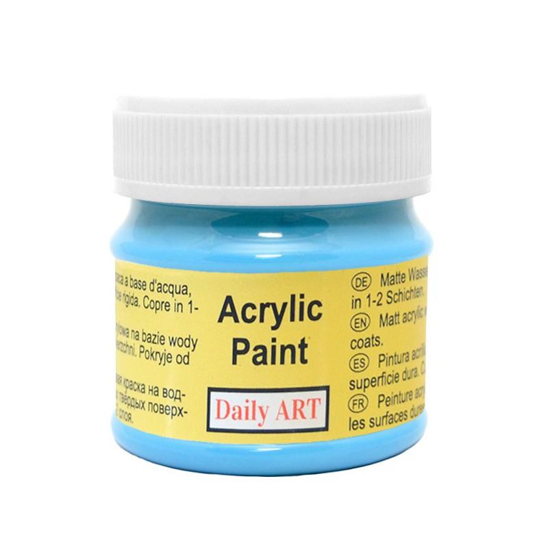 Matiniai akriliniai dažai Šviesiai mėlyna (50 ml)