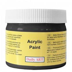 Matiniai akriliniai dažai Juoda (300 ml)