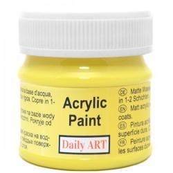 Matiniai akriliniai dažai Citrininiai (50 ml)
