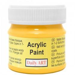 Matiniai akriliniai dažai Geltoni (50 ml)
