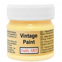 Kreidiniai akriliniai vintažiniai dažai Pastelinė geltona...