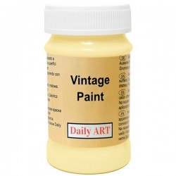 Chalky Acrylic paints Bright Yellow (100 ml)