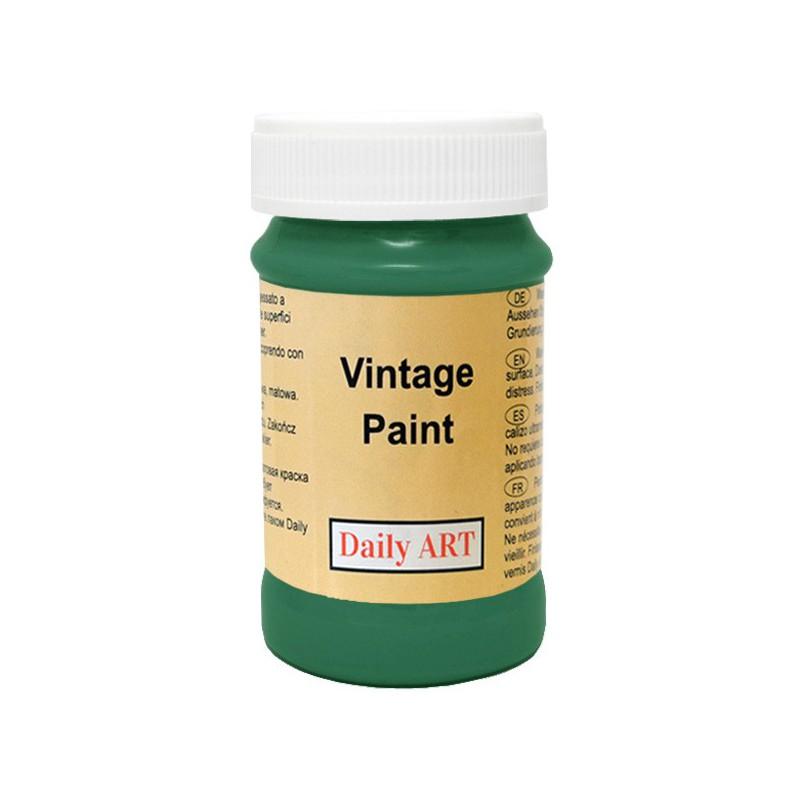 Kreidiniai akriliniai vintažiniai dažai Miško žalia (100 ml)