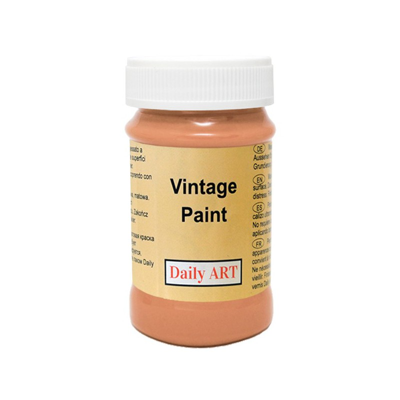 Kreidiniai akriliniai vintažiniai dažai Terakotos (100 ml)