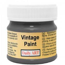 Kreidiniai akriliniai vintažiniai dažai Anglies juoda (50 ml)