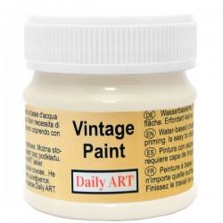Kreidiniai akriliniai vintažiniai dažai Pieno balta (50 ml)