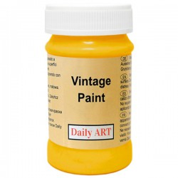 Chalky Acrylic paints Dark yellow (100 ml)