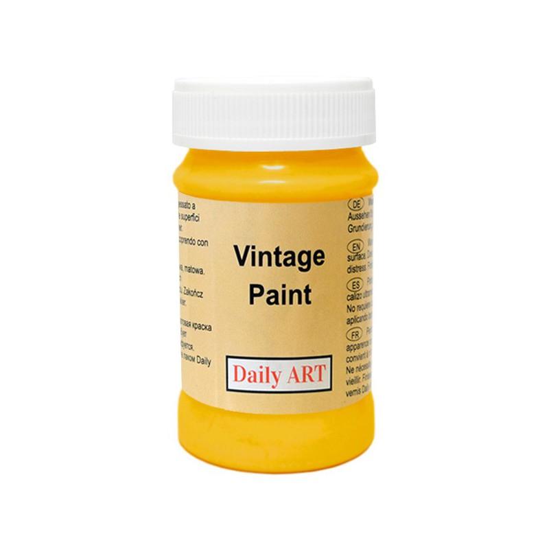 Kreidiniai akriliniai vintažiniai dažai Garstyčių (100 ml)