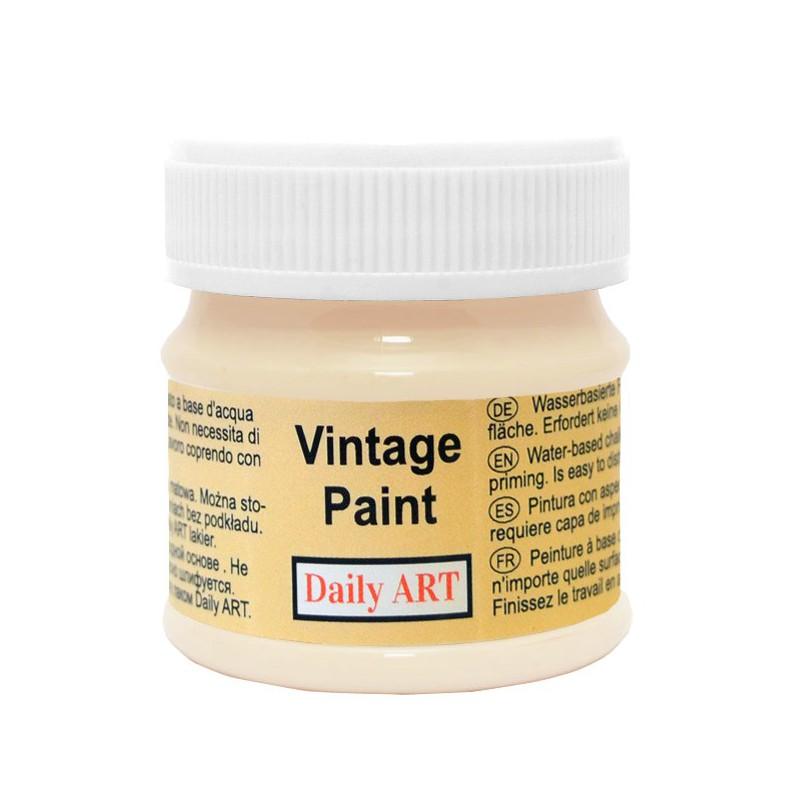 Kreidiniai akriliniai vintažiniai dažai Kreminė (50 ml)