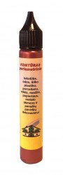 Perlamutrinis kontūras AKRILEN Raudona (30 ml)