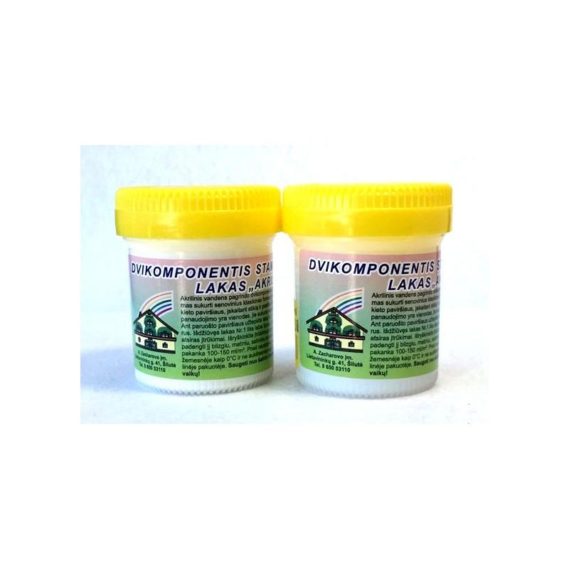 Dvikomponentis sendinimo lakas AKRILEN Stambus (2 x 60 ml)