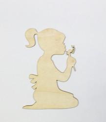 Mergaitė su pūku