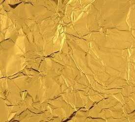 Folijos lapeliai aukso spalva (10 vnt)
