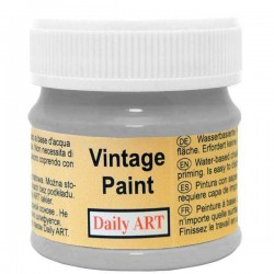 Kreidiniai akriliniai vintažiniai dažai Pelenų pilka (50 ml)