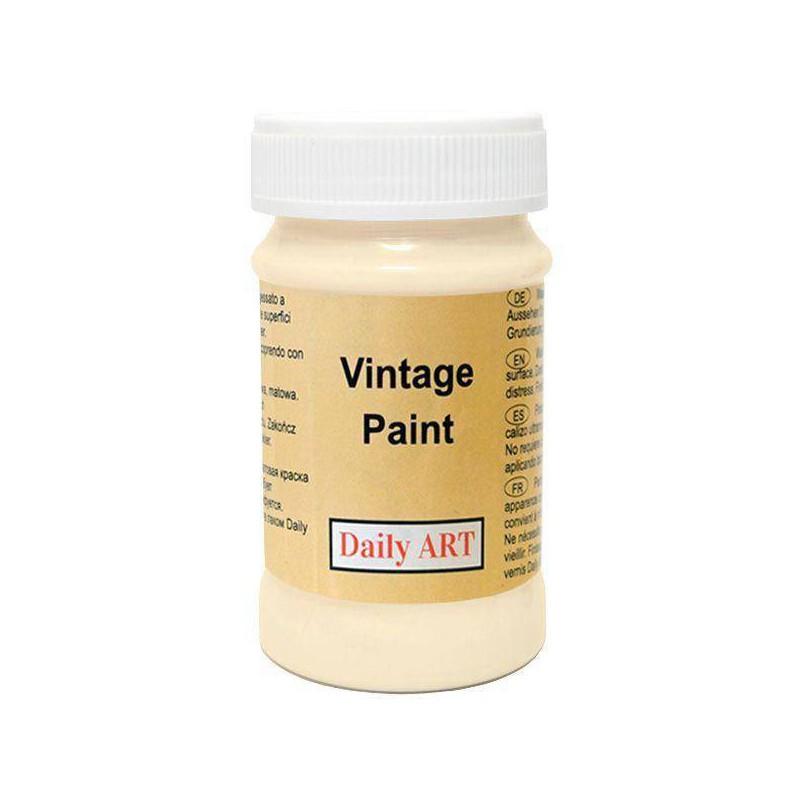 Kreidiniai akriliniai vintažiniai dažai Kreminė (100 ml)