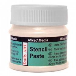 Pasta Trafaretams perlamutrinė Kreminė (50 ml)