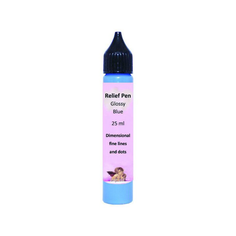 Reljefinis kontūras blizgus Mėlynas (25 ml)