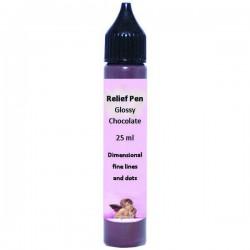 Reljefinis kontūras blizgus Šokoladiniai (25 ml)