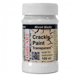 Vienkomponenčiai skilinėjimo dažai Skaidrūs -Crackle Paint (100 ml)