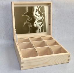 Dėžutė su veidrodžiu (9 skyr)