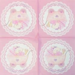 Servetėlė Vežimas (rožinis)