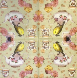 Servetėlė Paukštis ant arbatinuko