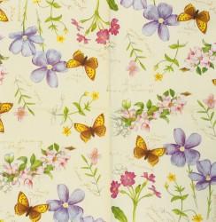 Servetėlė Gėlės ir drugelis