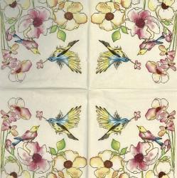 Servetėlė Gėlės ir paukščiai