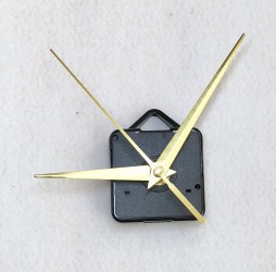 Clock movement (gold pointers)