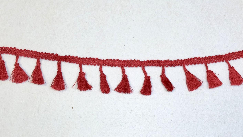 Juosatelė su kutosais Raudona (1 m)
