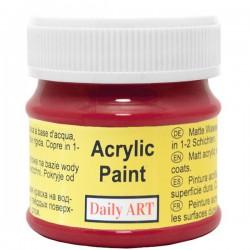 Matiniai akriliniai dažai Tamsiai raudona (50 ml)