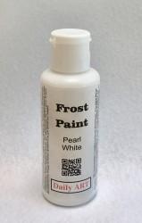 Šerkšno efekto pasta Perlamutrinė balta (50 ml)