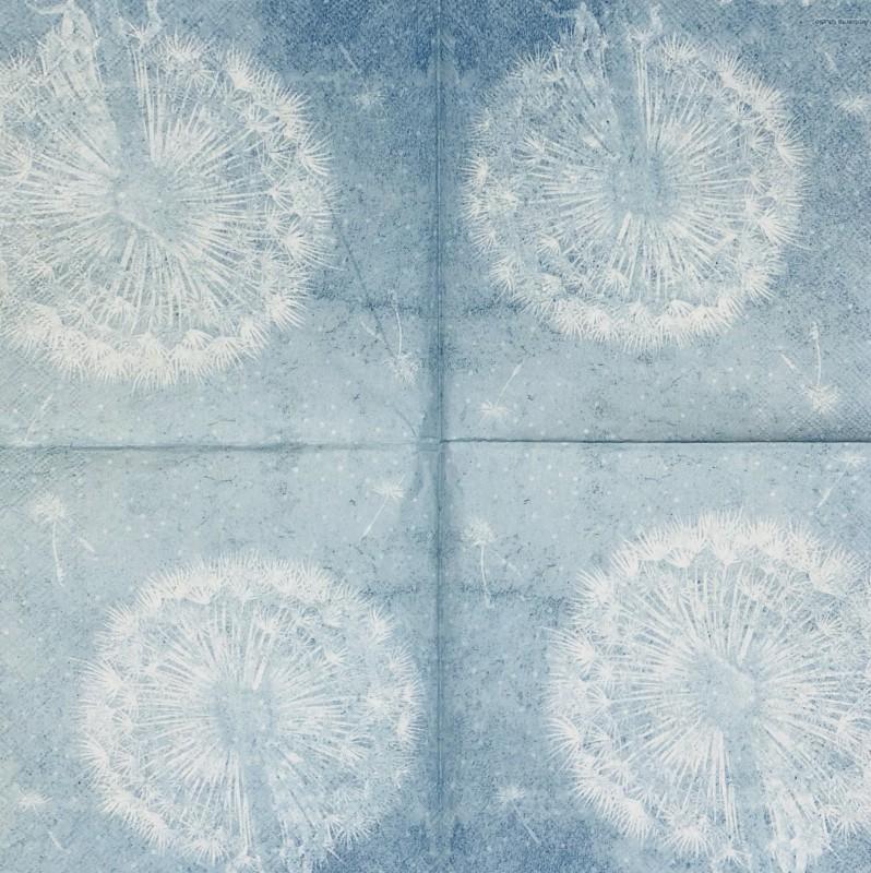 Servetėlė Pūkas mėlynas