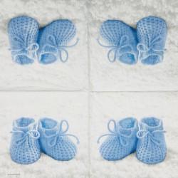 Servetėlė Batukai mėlyni
